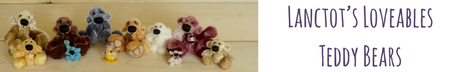 Lanctot's Loveables Teddy - Handmade collectible teddy bears by Rhonda-Lynne Lanctôt. Bears ranging in size from 0.75 inches to 21 inches.